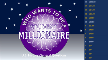 Who wants to be a student millionaire - U.S. History