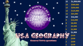 Who wants to be a student millioniare: USA Geography (pack 1)