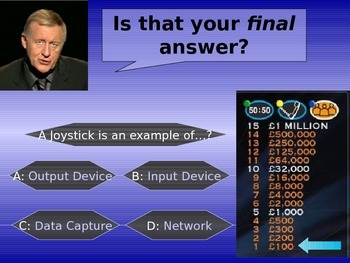 Who wants to be an ICT Millionaire