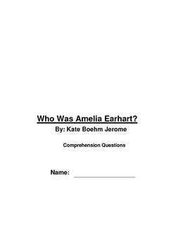 """Who was Amelia Earhart"", by Kate Boehm Jerome"