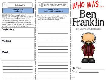 Who was Ben Franklin? A biography trifold unit on the life of Benjamin Franklin