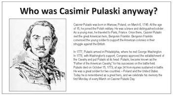 Who was Casimir Pulaski anyway?