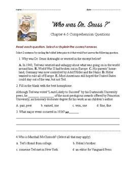 Who was Dr. Seuss ch 4n5 QnA