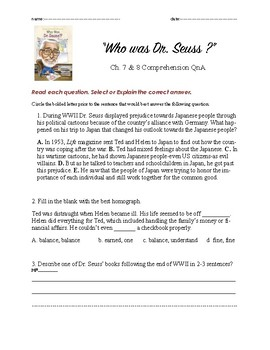 Who was Dr. Seuss ch. 7n8