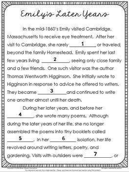 Emily Dickinson Study and Poetry Analysis