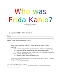 Who was Frida Kahlo? Book comprehension questions
