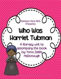 Guided Reading Who Was Harriet Tubman: Common Core, No Prep, Printables