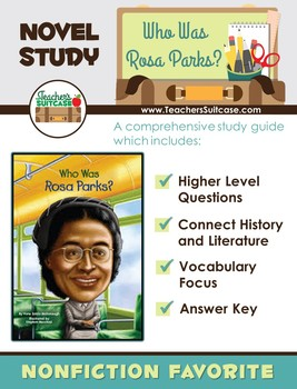 Who was Rosa Parks? (Black History Month Novel Study)