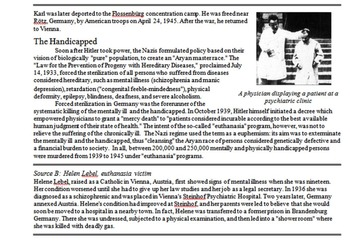 Holocaust Targets Primary & Secondary Source Assignment