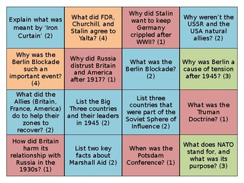 Who was more responsible for the Cold War? A revision carousel lesson