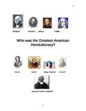 American Revolution: Who was the Greatest American Revolutionary?