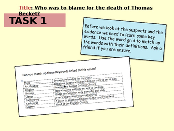 Who was to blame for the death of Thomas Becket?