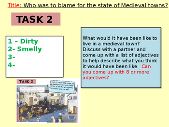 Who was to blame for the state of Medieval towns?