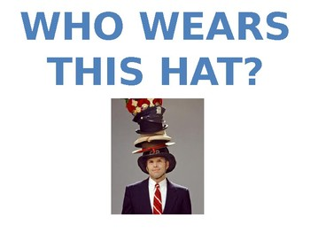Who wears this hat?