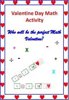 Who will be the perfect Math Valentine?- Math game