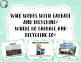 Who works with recycling posters