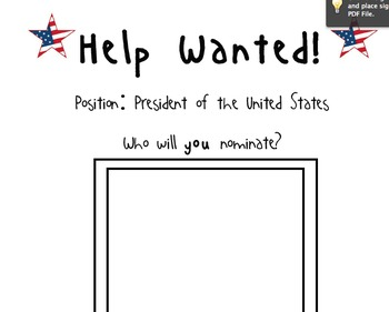 Who would you nominate to be the President? Election~Primary