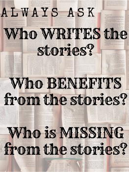 Who writes the stories? Poster