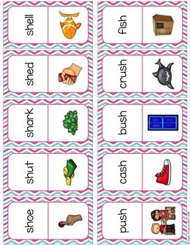 Digraph Phonics Domino Game