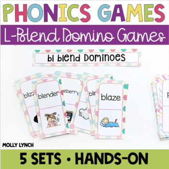 L Blends Phonics Domino Game