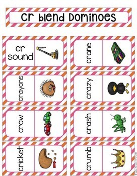 R Blends Phonics Domino Game