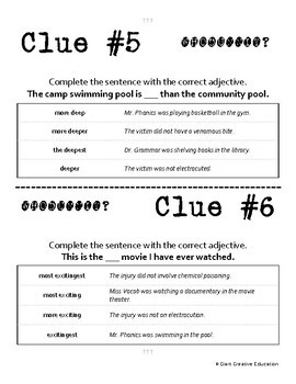 Whodunnit? - Adjectives & Adverbs - Comparative & Superlative - Skill Practice