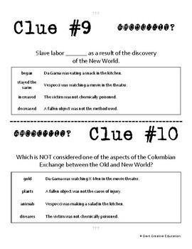 Whodunnit? - Age of Discovery - New World - Knowledge Building Class Activity