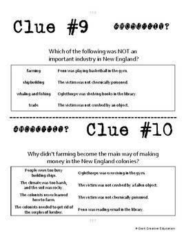 Whodunnit? - American Colonies - New England - Knowledge Building Activity