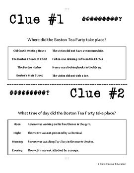 Whodunnit? - Boston Tea Party - Knowledge Building Activity