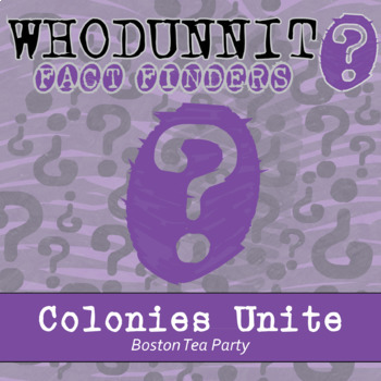 Whodunnit? - Colonies Unite - Knowledge Building Activity