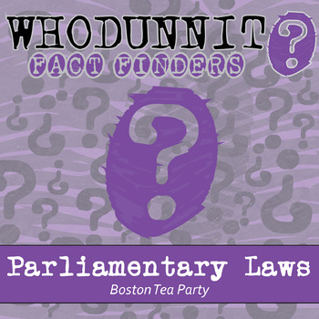 Whodunnit? - Parliamentary Laws - Knowledge Building Activity