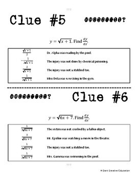 Whodunnit? -- Chain Rule - Skill Building Class Activity