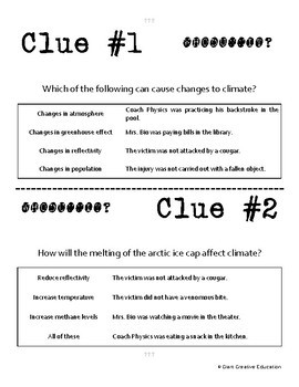 Whodunnit? - Climate Cycles - Knowledge Building Activity