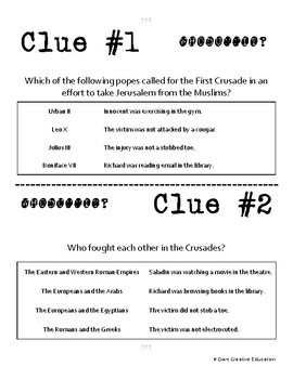 Whodunnit? - Crusades - People - Knowledge Building Activity