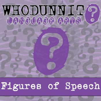 Whodunnit? - Figures of Speech - ELA Activity Skill Practice
