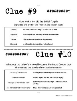 Whodunnit - French & Indian War - Battles - Knowledge Building Activity