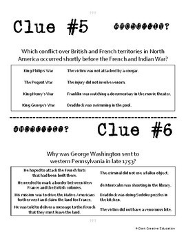 Whodunnit? - French & Indian War - Beginning - Knowledge Building Activity