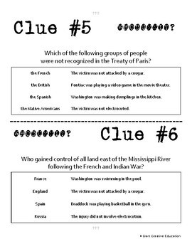 Whodunnit - French & Indian War - Effects - Knowledge Building Activity