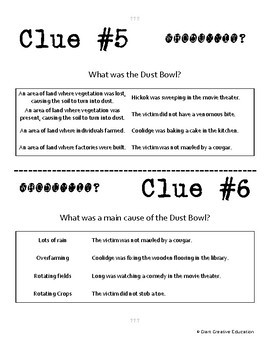 Whodunnit? - Great Depression & Dust Bowl - Knowledge Building
