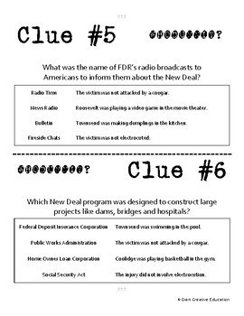 Whodunnit? - New Deal - Knowledge Building Activity
