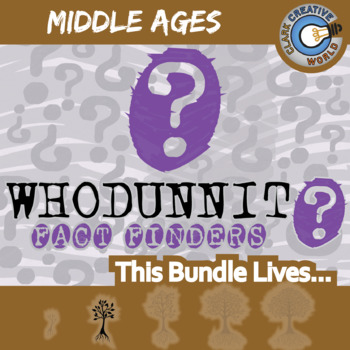 Whodunnit? -- MIDDLE AGES WORLD HISTORY CURRICULUM BUNDLE - Activities