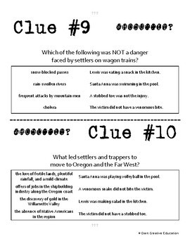Whodunnit? - Oregon Trail - Knowledge Building Activity