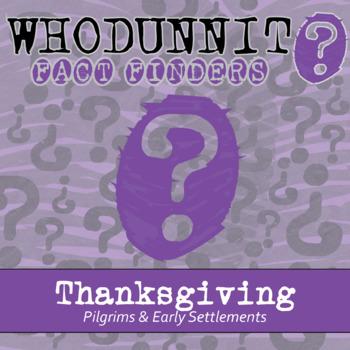 Whodunnit - Pilgrims & Settlements - Thanksgiving - Knowledge Building Activity