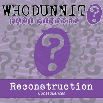Whodunnit? - Reconstruction - Consequences - Knowledge Building Activity
