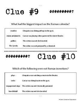 Whodunnit? - Roman Empire - Achievements - Knowledge Building Class Activity