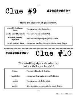 Whodunnit? - Roman Empire - Politics - Knowledge Building Class Activity