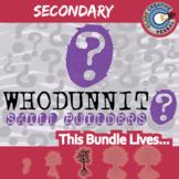 Whodunnit? -- SECONDARY LANGUAGE CURRICULUM BUNDLE - Skill Building Activities