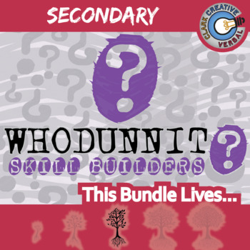 Whodunnit? -- SECONDARY LANGUAGE CURRICULUM BUNDLE - Skill Building Activities