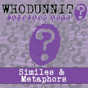 Whodunnit? - Similes & Metaphors - ELA Activity Skill Practice