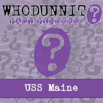 Whodunnit? - Spanish American War - U.S.S. Maine - Knowledge Building Activity